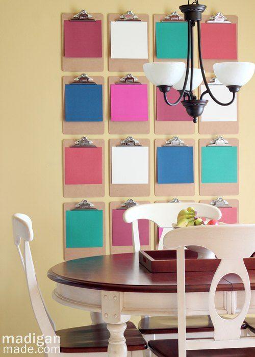 Cheap Kitchen Wall Decor Ideas: 25+ Best Ideas About Clipboard Wall On Pinterest