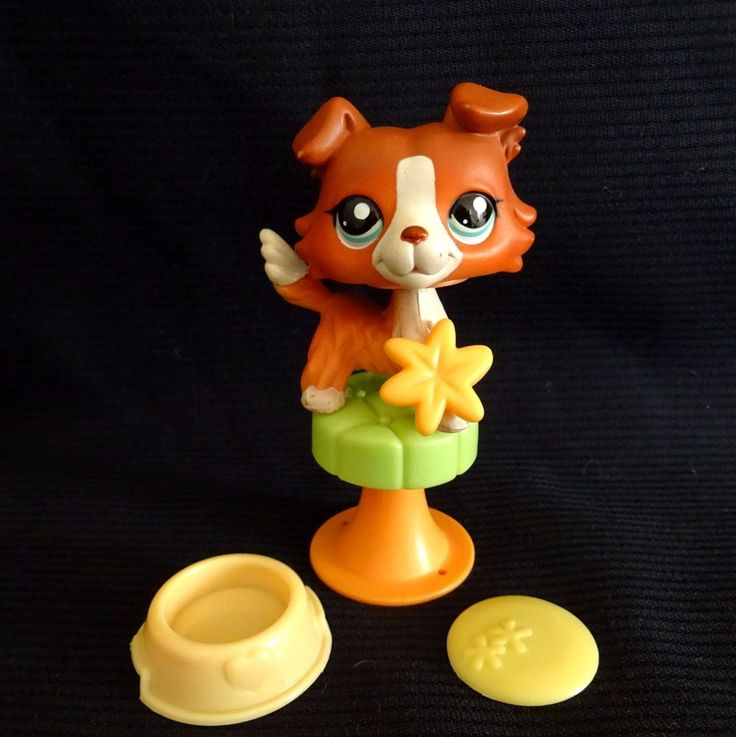 Littlest Pet Shop 1542 Collie Dog LPS Toy HASBRO 2007 rare