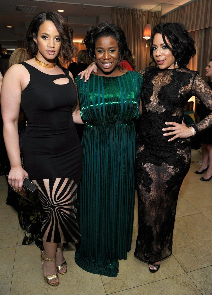 Pin for Later: All the Best Pictures From the SAG Awards Afterparties!  Pictured: Uzo Aduba, Dascha Polanco, and Selenis Leyva