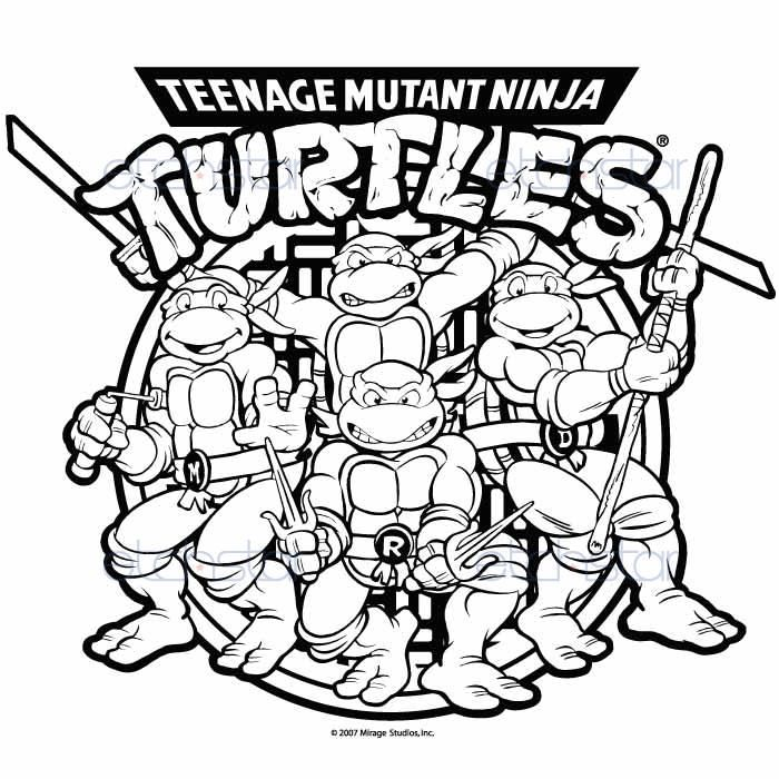 tmnt coloring pages on pinterest - photo#38