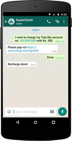 Pay your bills on time. Recharge your balance. All on a chat.