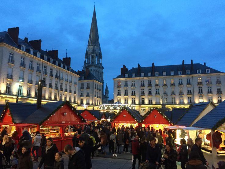 Marché de #noël 2016 au #CentreVille de Nantes.