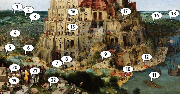 22 fascinating details you probably never noticed on Bruegel's 'The Tower of Babel'