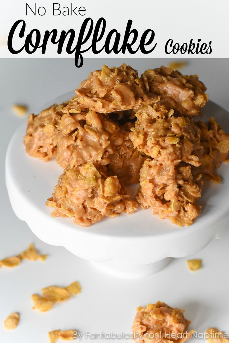 No Bake Corn Flake Cookies -this quick and easy cookie recipe is one of my favorites to take to ANY party, or get together!