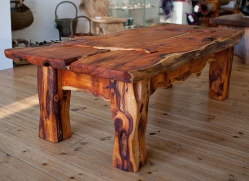 'Badgerland Table' by Phil Crennell. Yew Live Edge Furniture. £1840  info@whitehousegallery.com  01557 330223