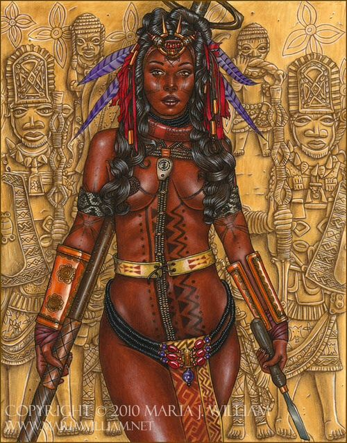 White damsel and african warrior romance