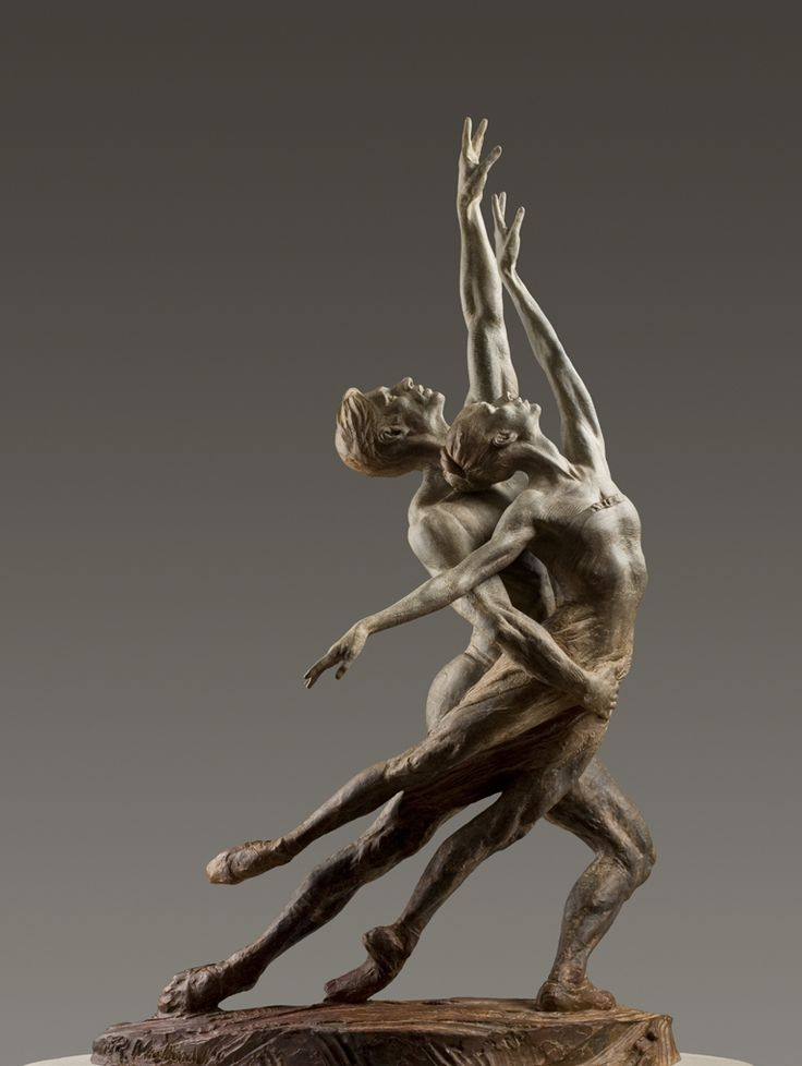 Pas de Deux Elegance SII, sculpture bronze... by Richard MacDonald