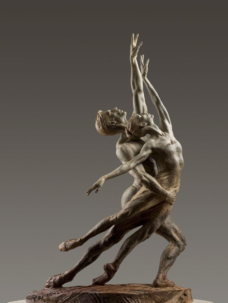 Pas de Deux Elegance SII, sculpture bronze... by Richard MacDonald