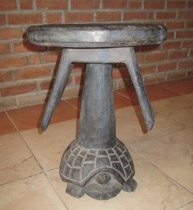 africanartonline.com - Mahogany Tortoise Stool, $175.00 Includes shipping worldwide, Hand crafted in Tanzania , East Africa. Dimensions: 41cm high x 32cm wide, (seat width) http://africanartonline.com/mahogany-tortoise-stool/