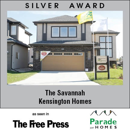 The Savannah - New home builder Kensington Homes wins awards for newly built residential home construction in Winnipeg Manitoba