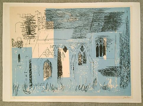 John Piper, Lewknor print 1964
