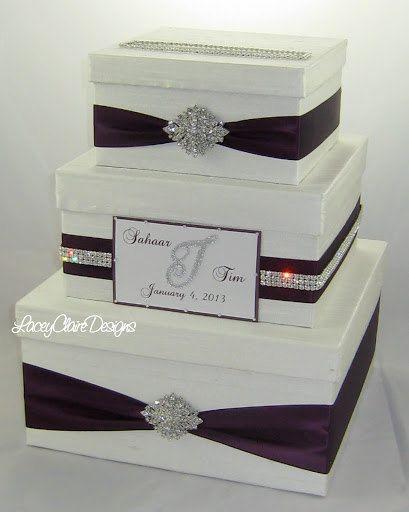 Wedding Gift Box, Card Box for Wedding, Bling Card Box, Wedding Card Holder, Box for Cards, Rhinestone Money Holder – Custom Made