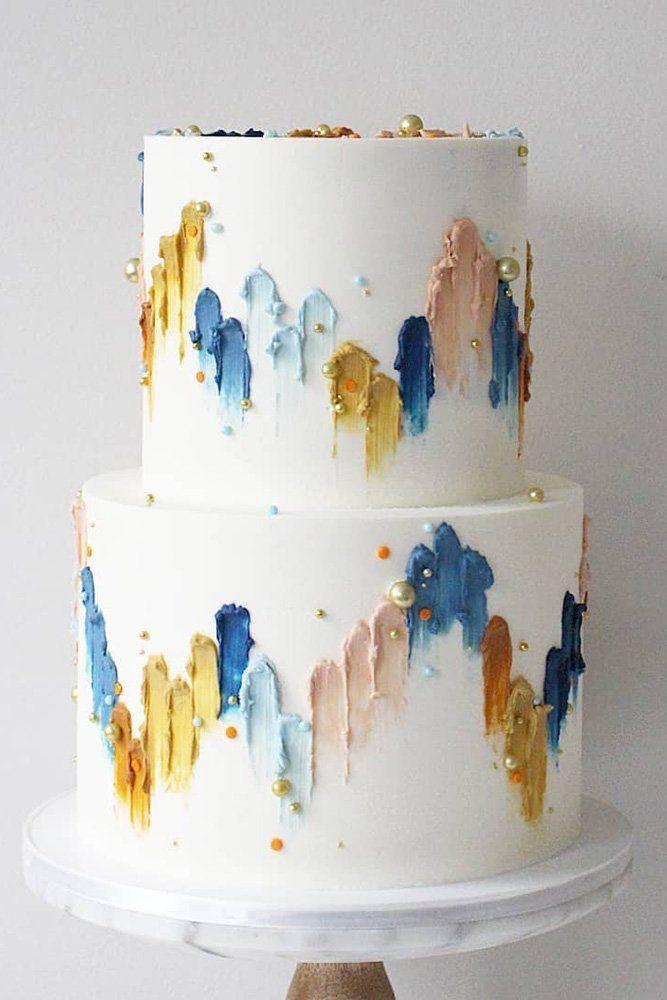 36 Hochzeitstorten im Herbst, die WOW ❤ Hochzeitstorten im Herbst weiß mit Perlen verziert …   – Cake