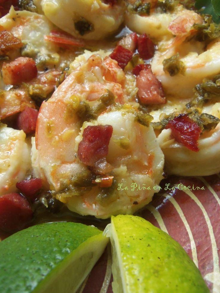 Camarones Jalapeños con Tocino(Jalapeño Shrimp with Bacon). A la Diabla prepared Two Ways. New Blog Post.