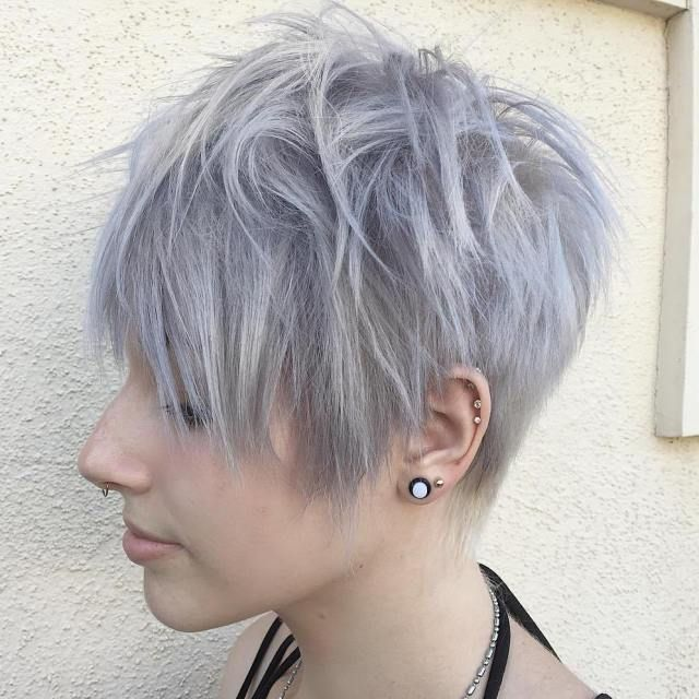 Long Gray Pixie