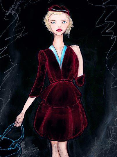 Velvet Dress Girl