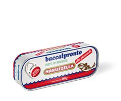 Baccalpronto alla pizzaiola  Baccalpronto alla pizzaiola, is made with tender, selected fillets from the best cod, prepared carefully according to Maruzzella's traditions, and steamed and seasoned to make this wholesome product even more inviting. Packaged in quality olive oil, and available in a handy 180 g format with easy opening.