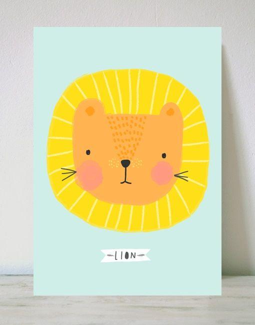 dibujo de un simpático león