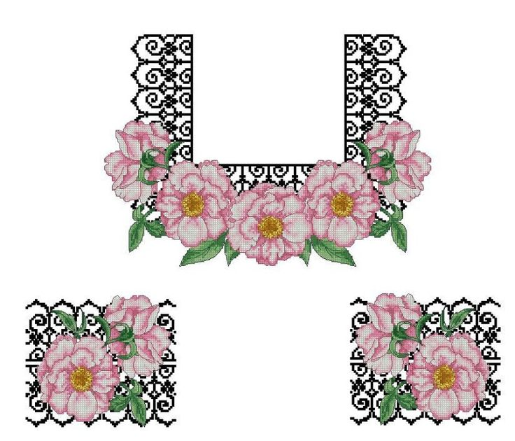 Gallery.ru / Фото #146 - схемы для вышиванок - zhivushaya