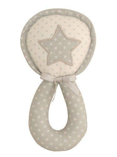 Alimrose star wand rattle grey white