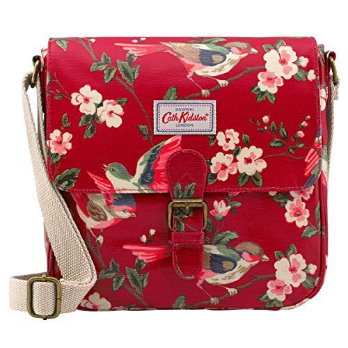Cath Kidston Oilcloth Mini Satchel Bag Crossbody British Birds Berry Red ** To view further for this item, visit the image link.(This is an Amazon affiliate link and I receive a commission for the sales)