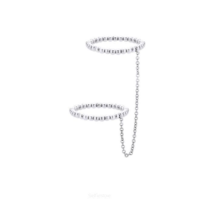 Pierścionek / 2FM / srebro 2mm / łańcuszek - Selfie Jewellery - Sklep Internetowy
