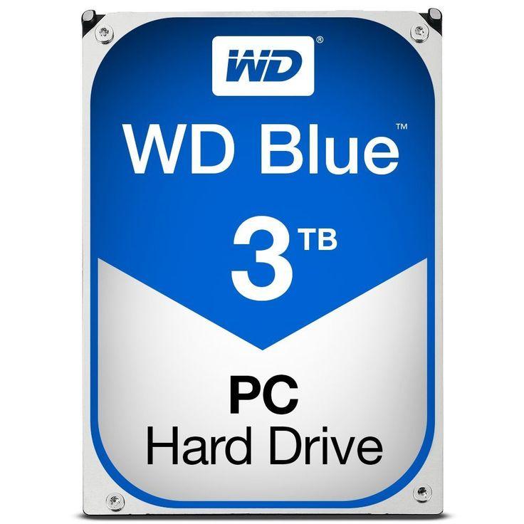 WD Blue 3TB Desktop Hard Disk Drive 5400 RPM SATA 6 Gb s 64MB Cache 3.5 Inch WD30EZRZ