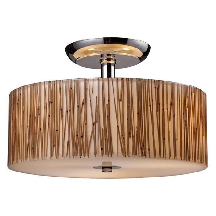 Modern organics 3 light semi flush in polished chrome nebraska furniture mart