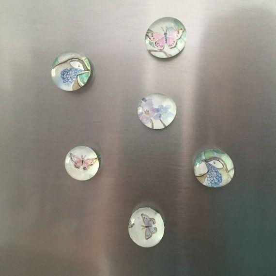 Decorative Mini Magnets by MerakiBottegaCo on Etsy