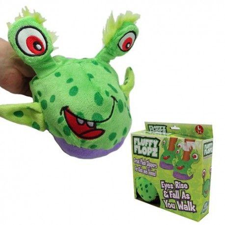 Çocuklar için kurbağa şeklinde kulakları hareket eden sevimli ev terliği