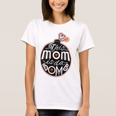 Cute Mother's Day Mom da Bomb Modern Typography T-Shirt - tap to personalize and get yours