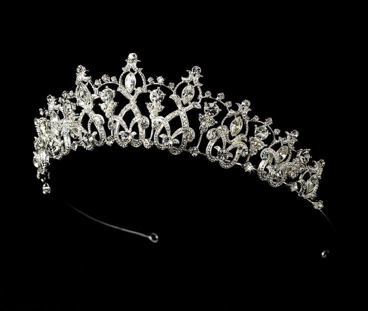 Dazzling Classic Rhinestone Tiara for Wedding and Quinceanera - beautiful! Affordable Elegance Bridal -