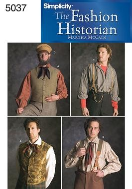 Men's Historical Costume Men's Civil War braces, vest and mechanic's cap are suitable for reenactments, theatrical productions. Use cotton or wool for day or brocade for formal attire. Martha McCain the Fashion Historian.