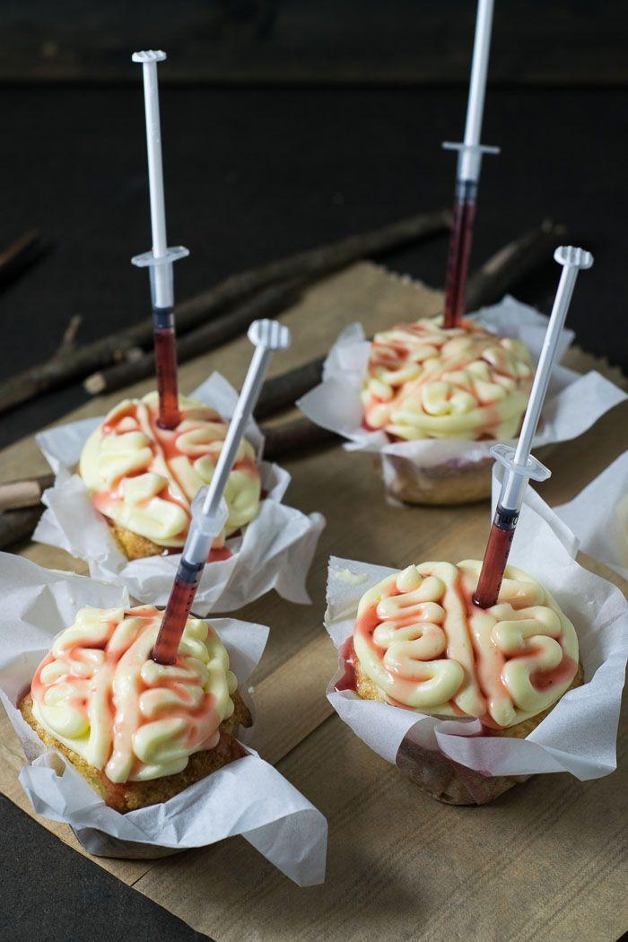 Receita de Halloween: Cupcake de Cérebro