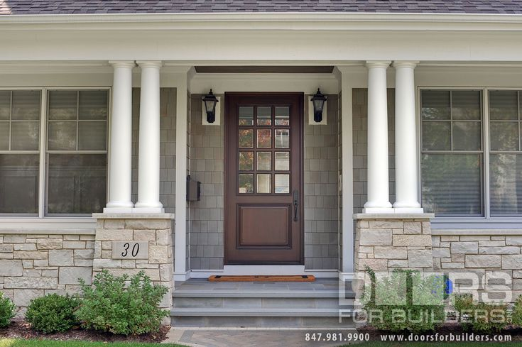 17 best ideas about wood front doors on pinterest entry for Wood front door with storm door