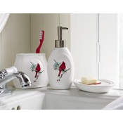 1000 images about cardinal themed christmas decor on for Bird themed bathroom accessories