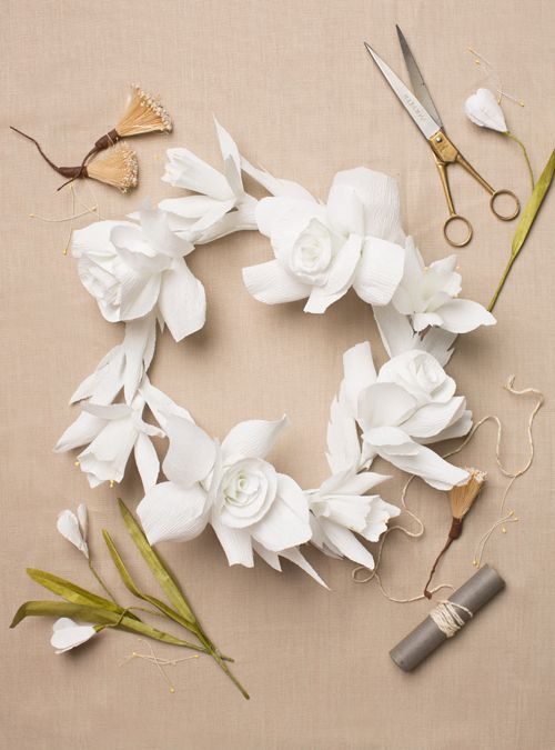 101 best paper flowers images on pinterest giant paper flowers diy paper flower wreath mightylinksfo Choice Image