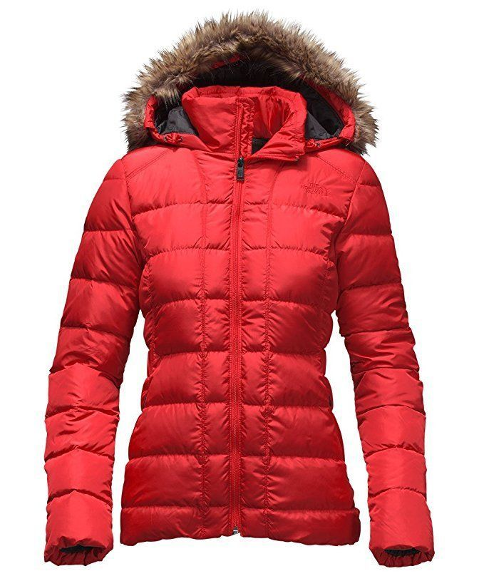 The North Face women's Gotham Jacket in High Risk Red. Coveted, warm 550-fill down insulated jacket stays true to classic mountain styling with high-loft baffles protected by a DWR (durable water repellent) finish. | eBay!