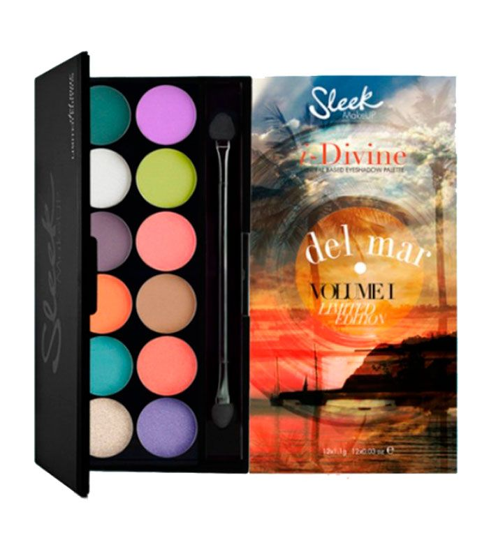 #Sleek MakeUP - Paleta de sombras i-Divine Del Mar Vol.1 #eyeshadow #makeup ¡Qué preciosidad! <3