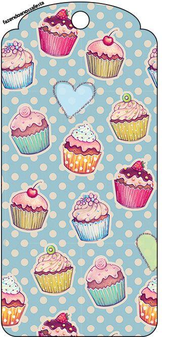 Tag Agradecimento Cupcakes: