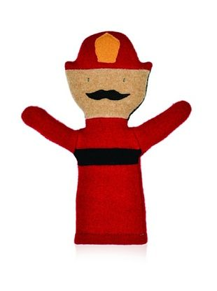 28% OFF Cate and Levi Unisex Fireman People Puppet , Red/Black