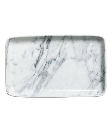 Ceramic Marble Plate | H&M GB | Home | White | Grey | Unique | Contemporary | Modern Interior | Loft Living | Warehouse Home Design Magazine