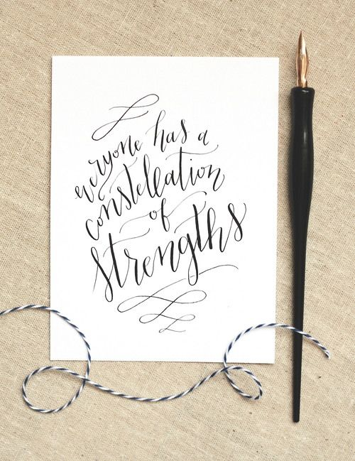 Modern calligraphy quote font type handwritten
