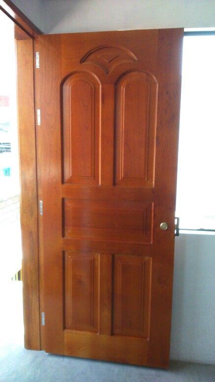 Puerta de madera cedro decoraci n pinterest for Puerta y media de madera