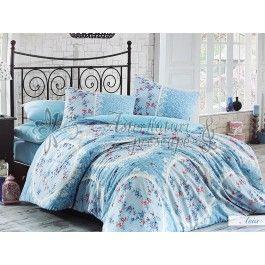Hobby Home Asia turcoaz - Lenjerie de pat din bumbac ranforce 2 persoane