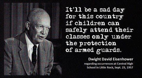 eisenhower quote about guns in school well it 39 s become