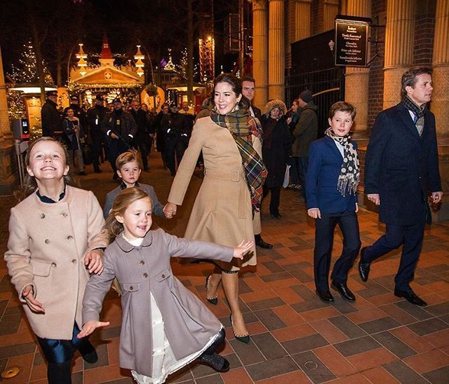 """Josephine and her family attended the premiere of the ballet """"The Nutcracker"""" at Tivoli Concert Hall in Copenhagen yesterday on December 1, 2016💝🎄"""