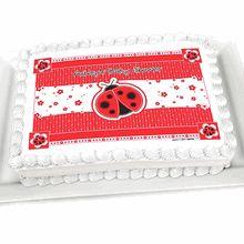 modern ladybug baby shower cake image topper ladybug babyshower