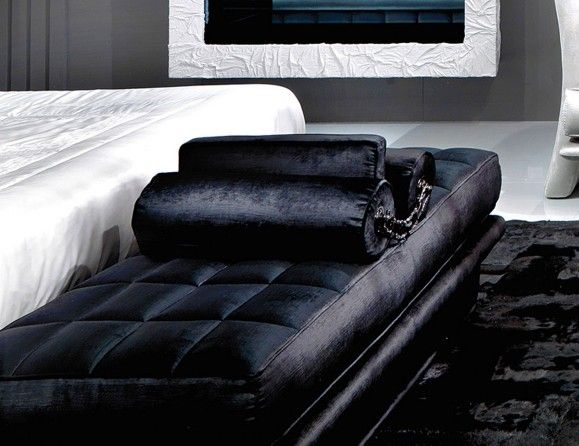 lavinia luxury italian upholstered bench shown in black modern office furniture collections modern bedroom furniture sets collection