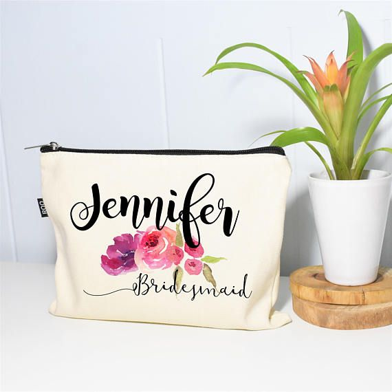 Bridesmaid Makeup Bag Make Up Bag Bridesmaids Gifts